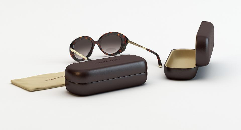 3d models of sunglasses with hard and soft cases