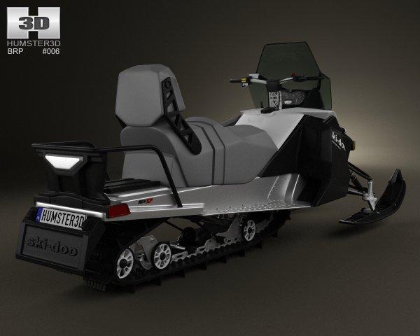 ski-doo snowmobile 3d model turbosquid