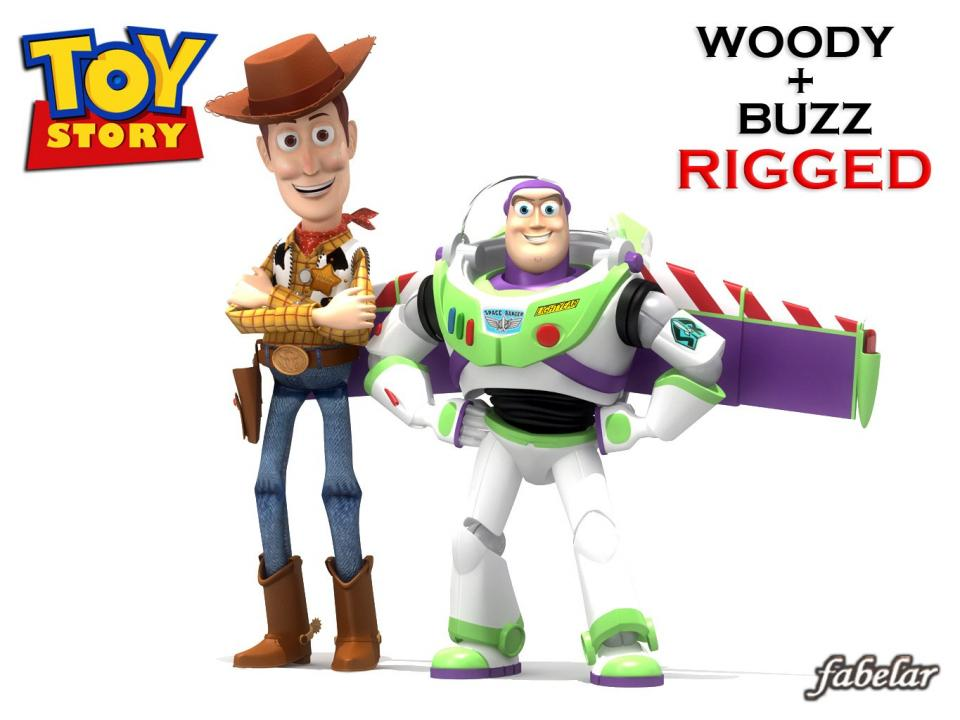 toy story characters 3d model 3dexport
