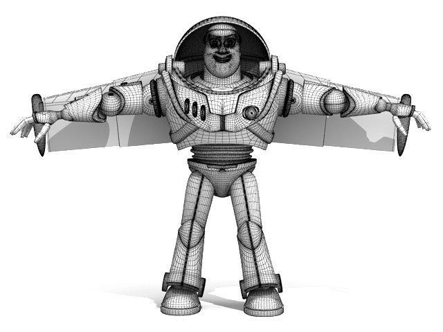 astronaut cartoon 3d model 3dexport vray 3dsmax
