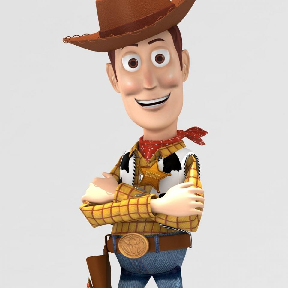 woody cartoon 3d model 3dexport
