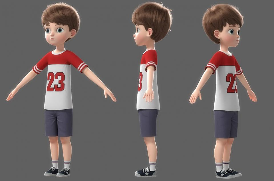full body boy 3d model turbosquid
