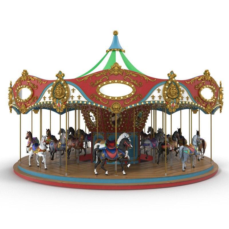 carousel 3d model turbosquid