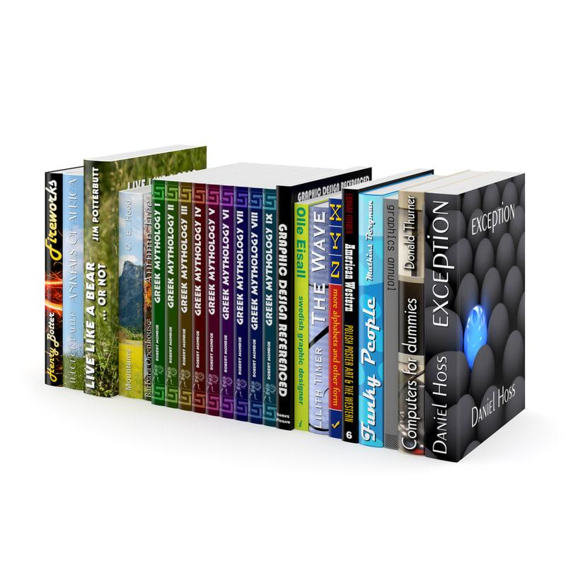 cgaxis books 3d collection 3d model turbosquid