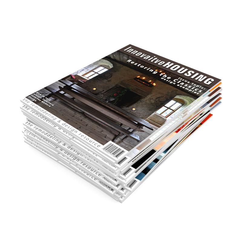 set of magazines 3d model turbosquid cgaxis