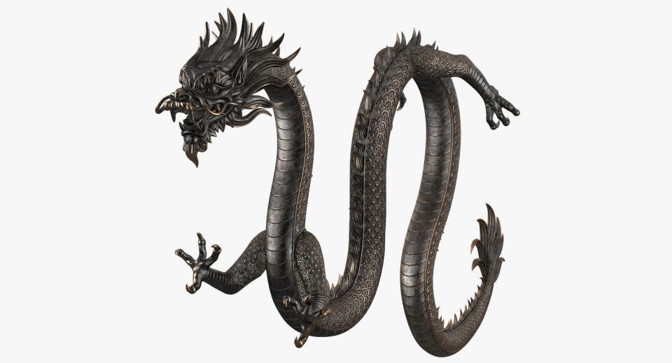 chinese dragon 3d model turbosquid