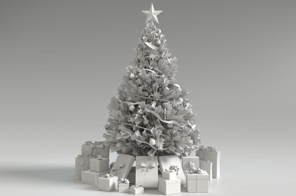 christmas tree 3d model blender turbosquid