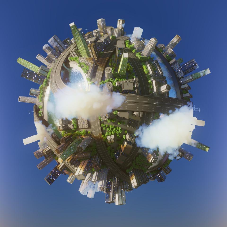 city planet 3d model 3dexport