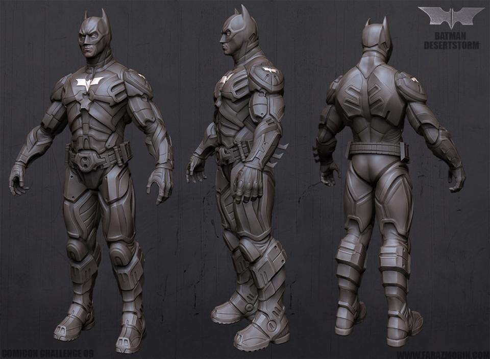 3d model of Batman rigged
