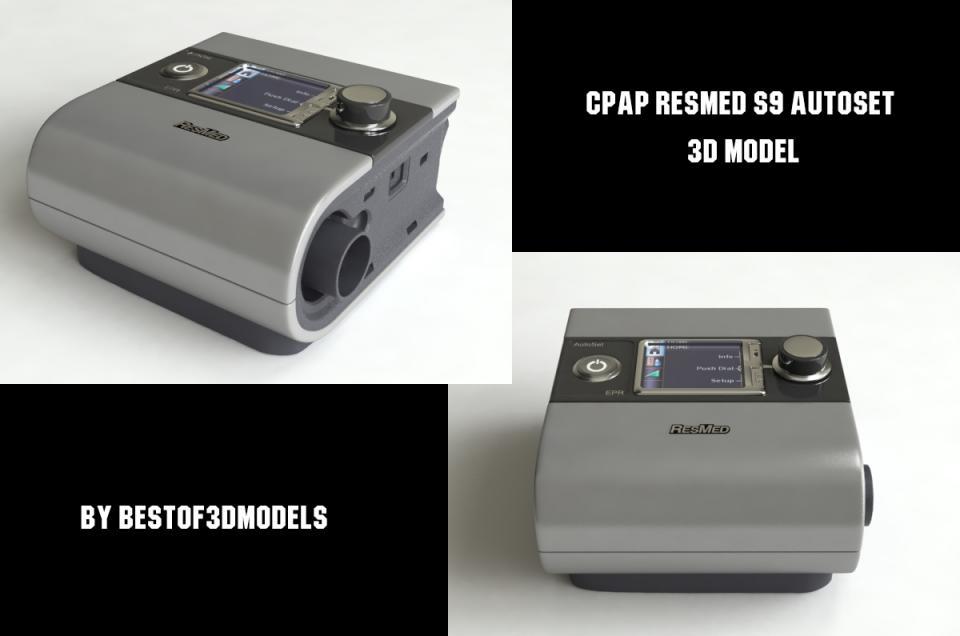 cpap resmed s9 autoset 3d model