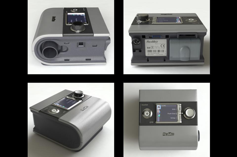 sleep apnea machine 3d model