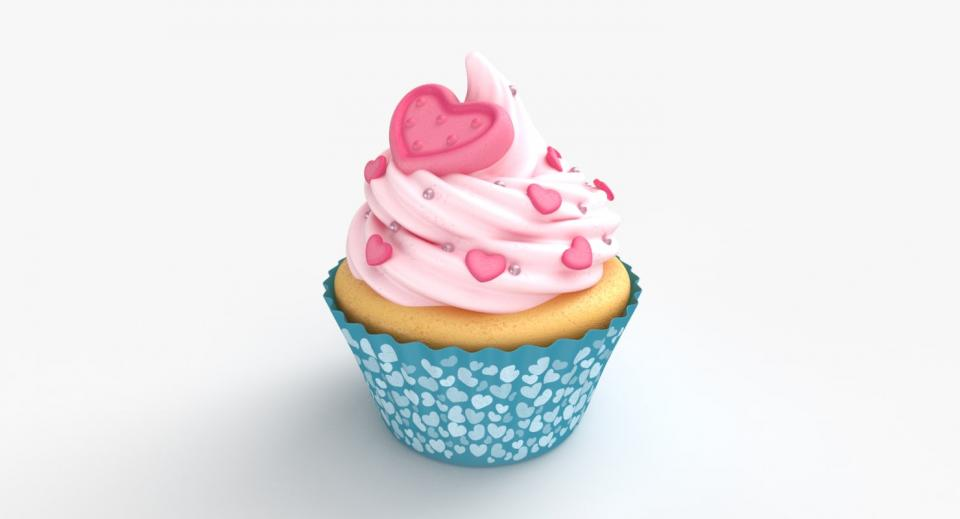 cupcake 3d model turbosquid