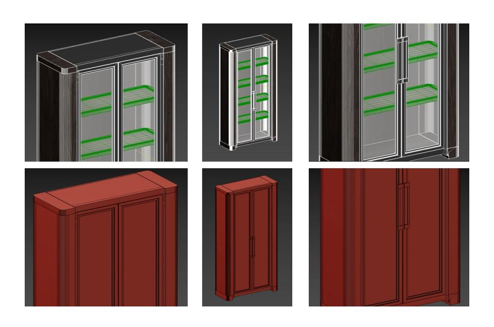 storage cabinet Holly Hunt 3d model