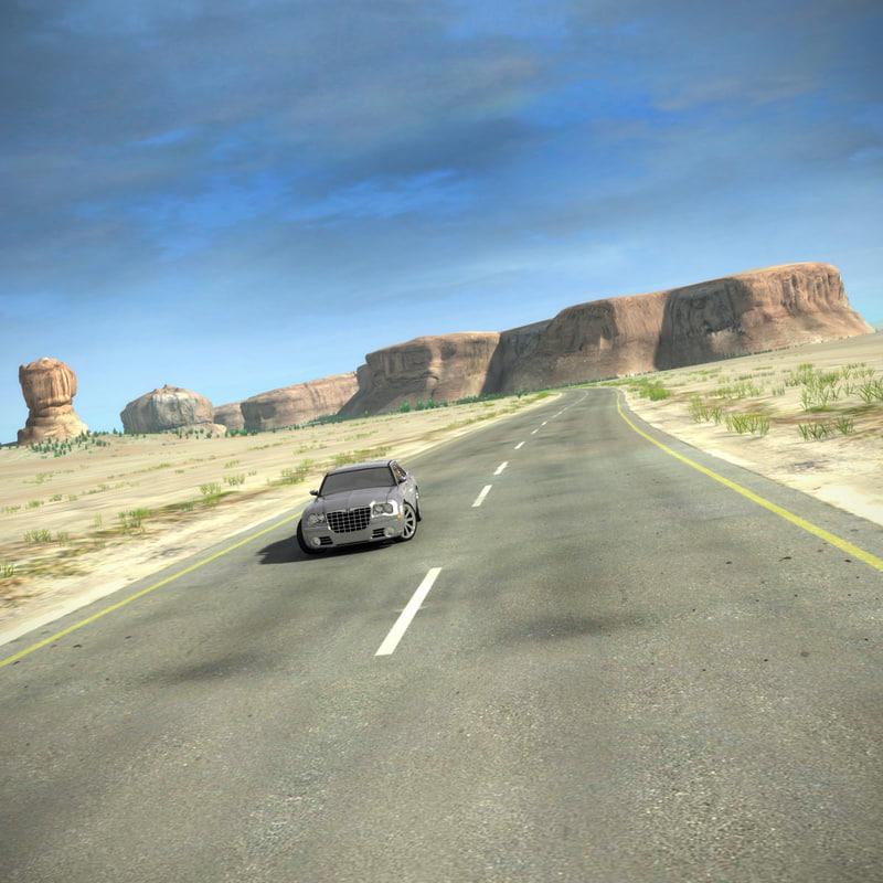 desert road 3d model turbosquid