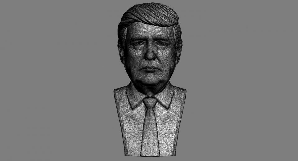 3d model of Donald Trump