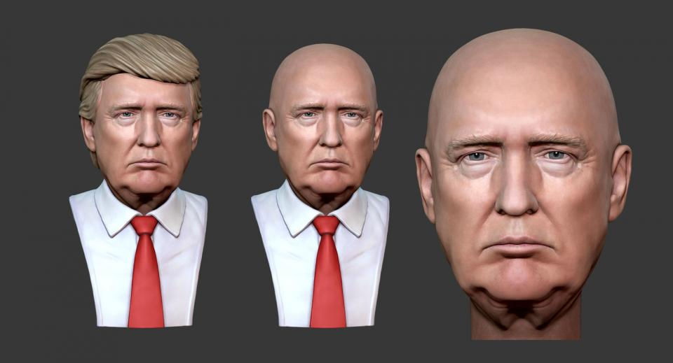 3d model of Donald Trump