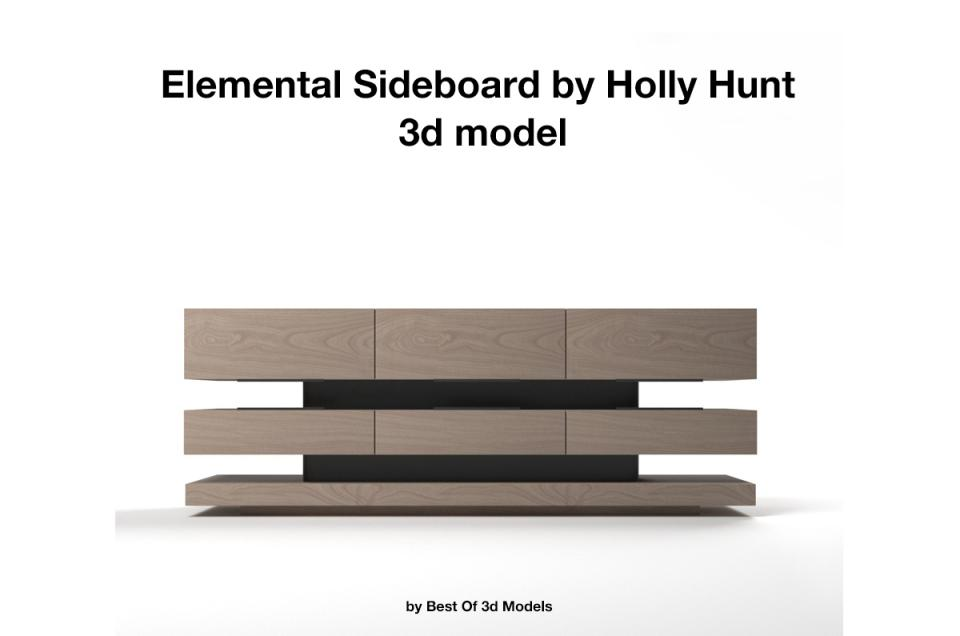 Elemental Sideboard Holly Hunt 3d model