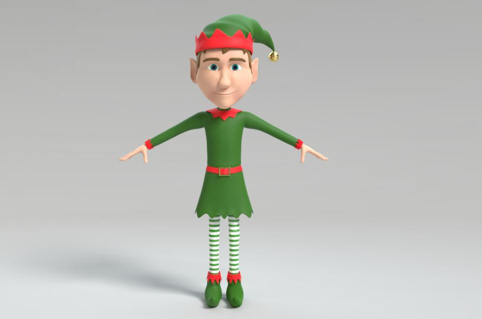 elf 3d model turbosquid