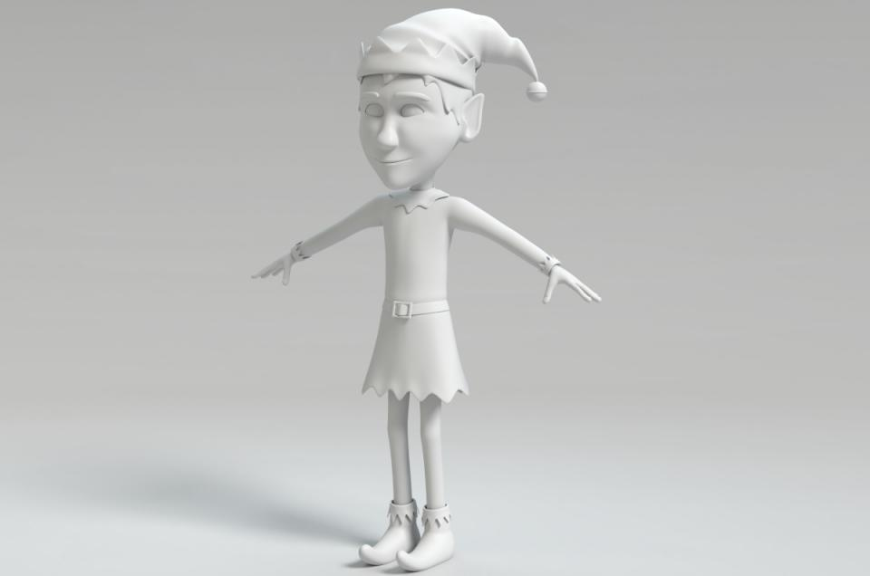 xmas elf blender 3d model turbosquid