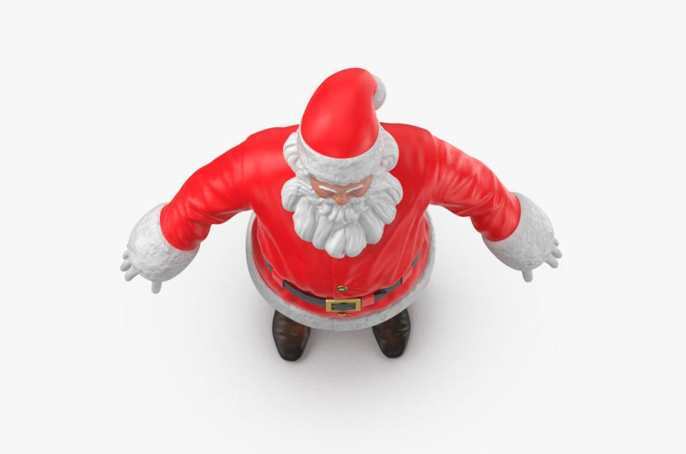 father christmas A pose 3d model turbosquid