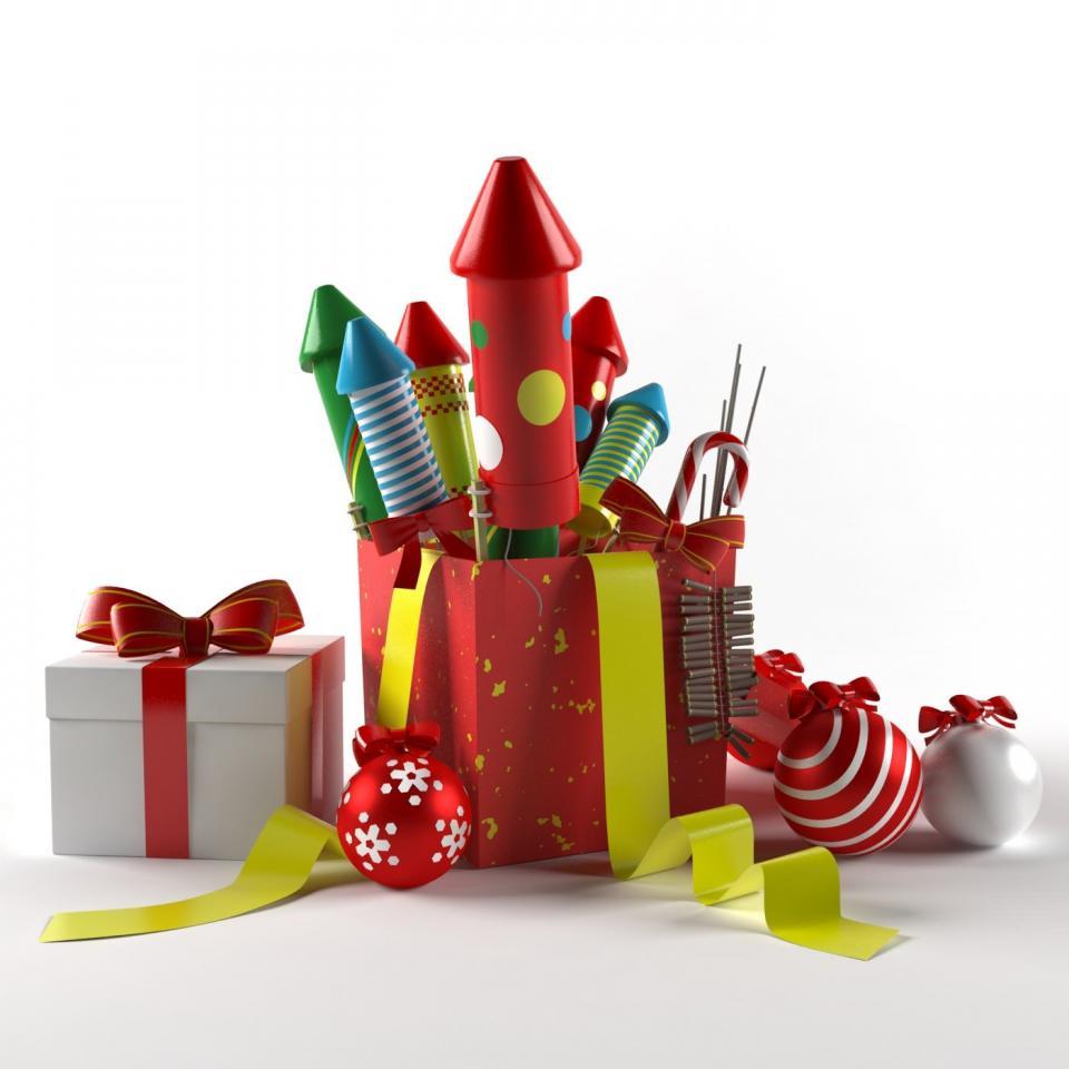 christmas toys 3d model 3d export