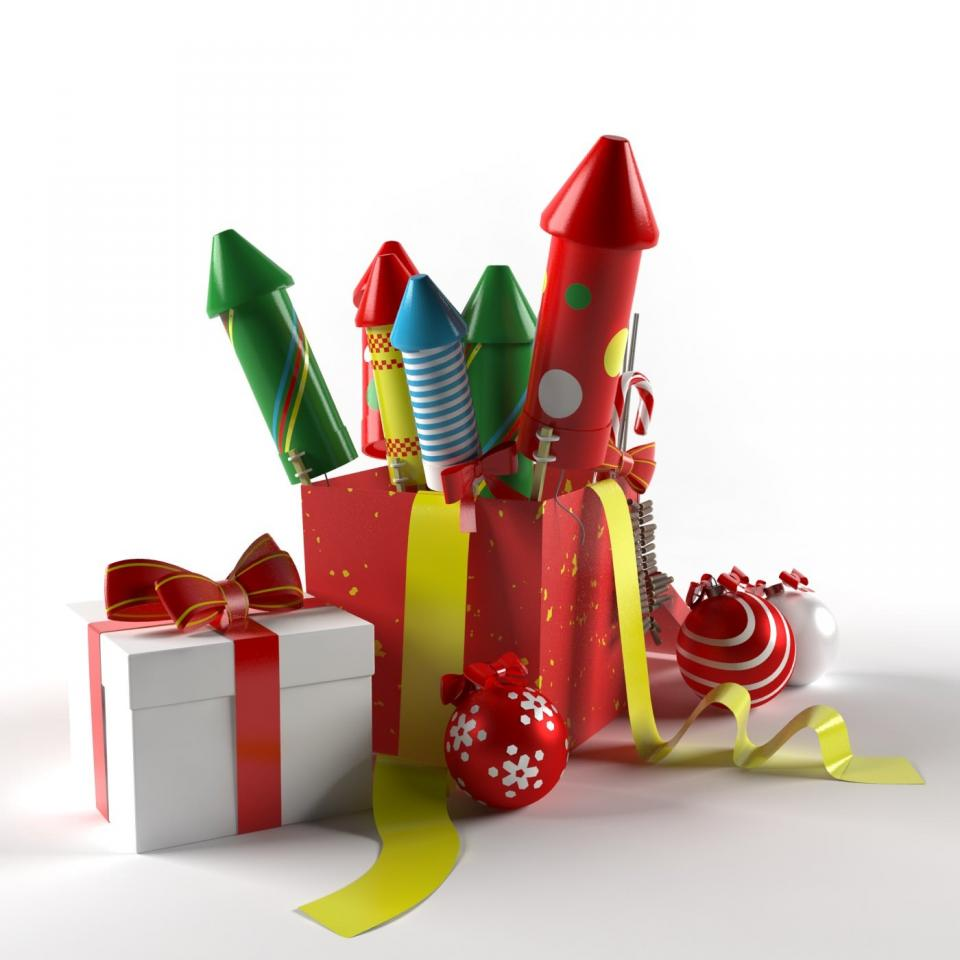 christmas decoration 3d model 3d export