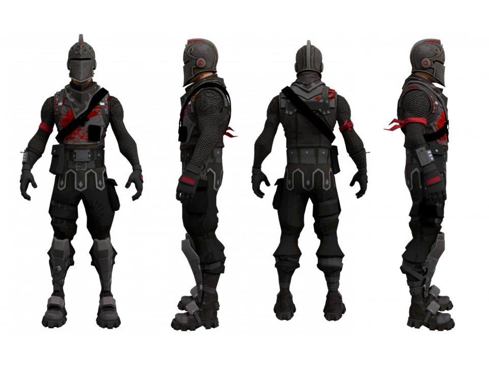 fortnite black knight character 3d model 3dexport