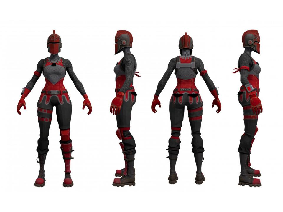 fortnite red knight character 3d model 3dexport