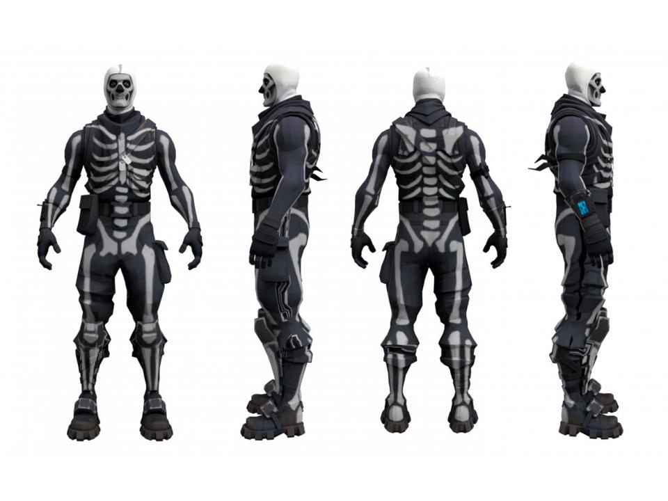 fortnite skull trooper character 3d model 3dexport