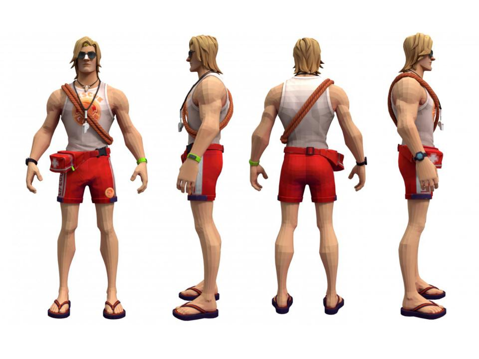 fortnite sun tan specialist character 3d model 3dexport