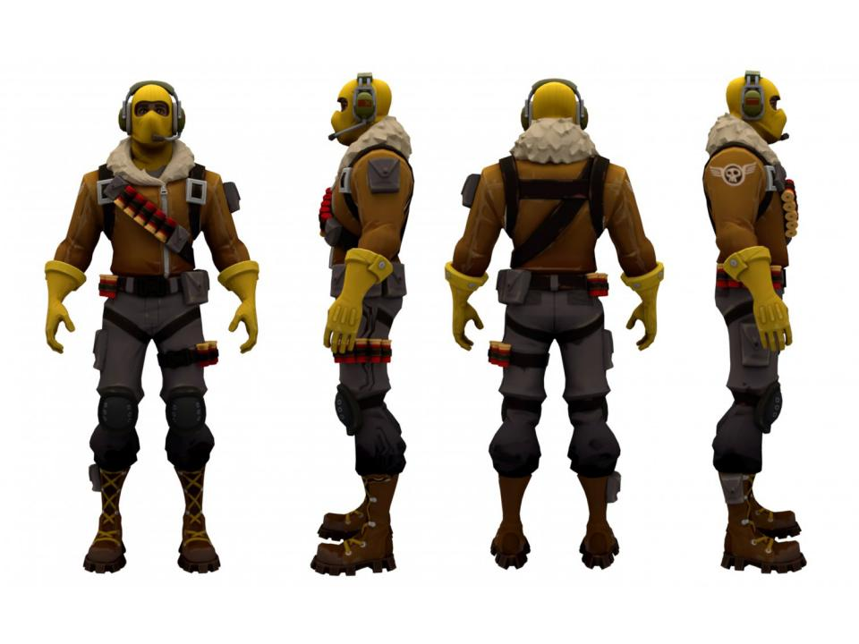 fortnite raptor character 3d model 3dexport