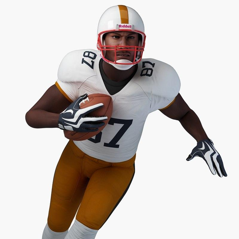 player at football game 3d model turbosquid