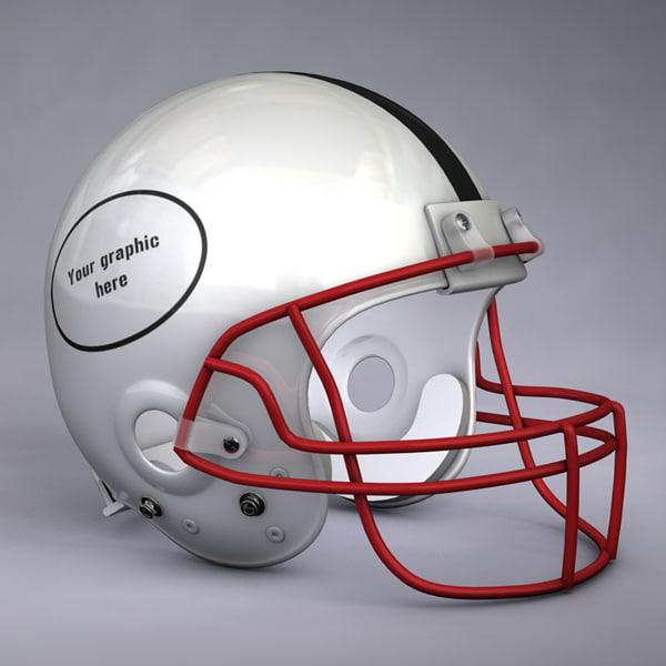 3d model of a helmet