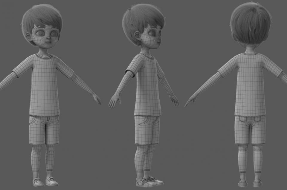 little kid 3d model turbosquid