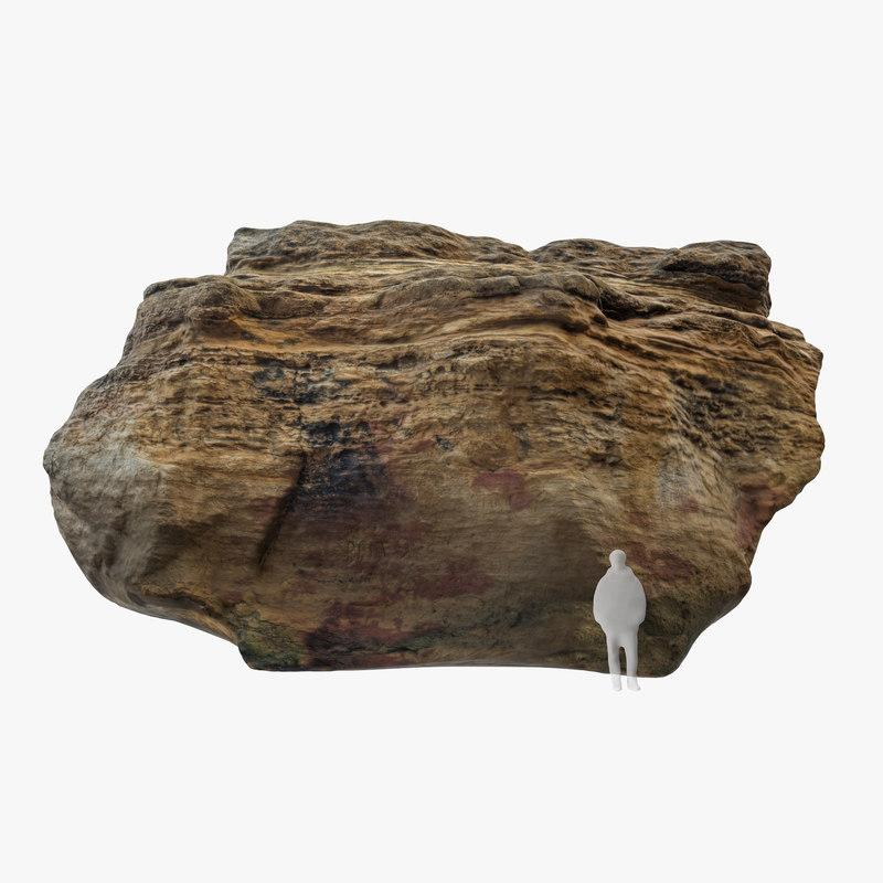 big limestone boulder 3d model turbosquid