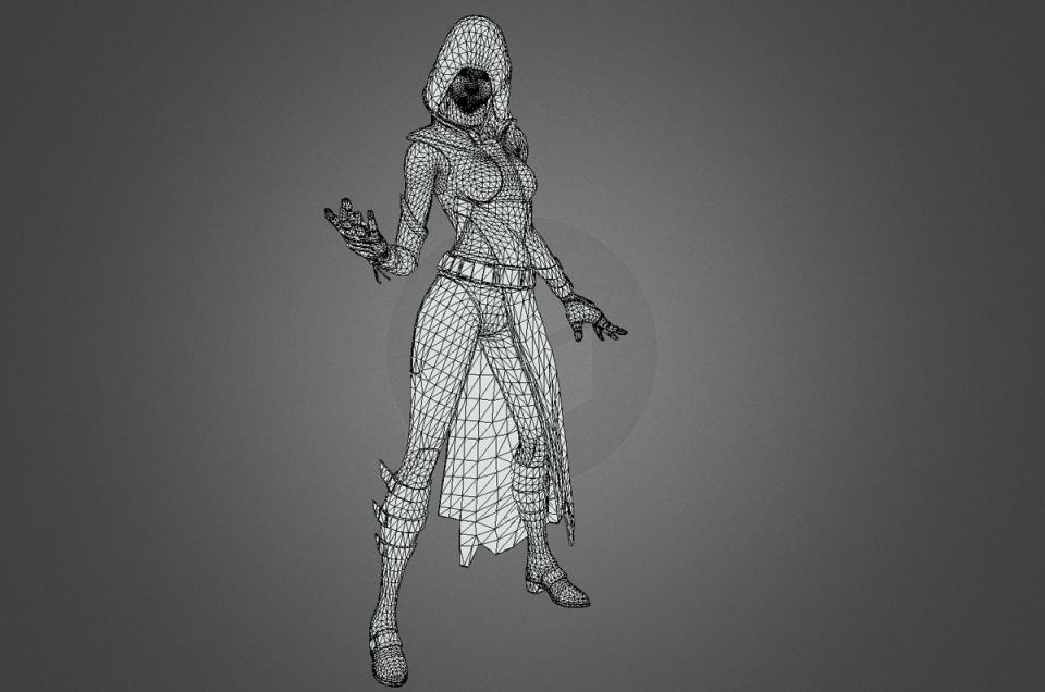 fortnite glow wireframe free 3d model