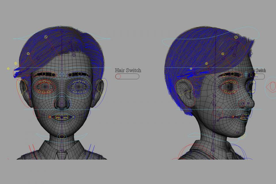 3d man hair system turbosquid