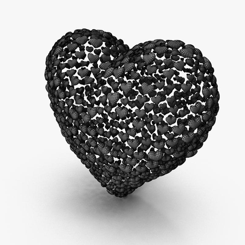 heart symbol 3d model turbosquid