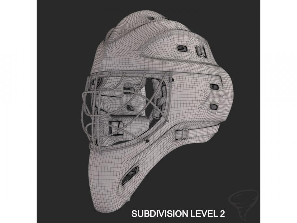 ice hockey goalie mask 3d model turbosquid