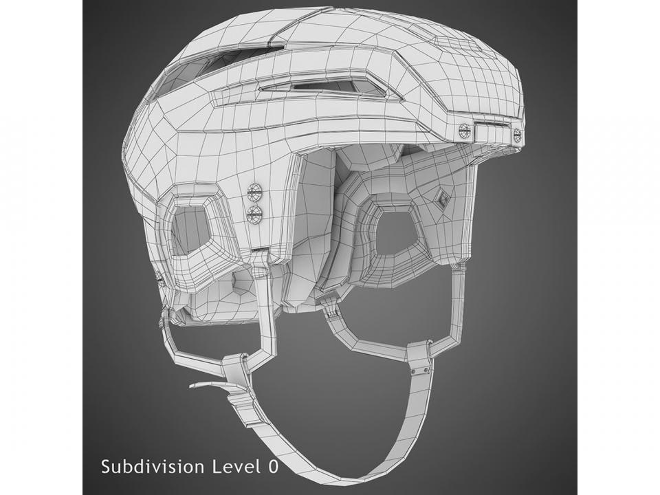 bauer hockey helmet 3d model turbosquid