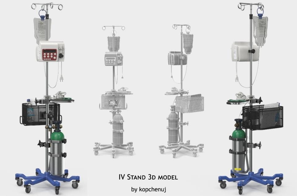 iv stand 3d model turbosquid