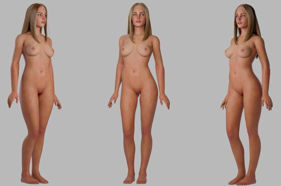 nude woman 3d model turbosquid