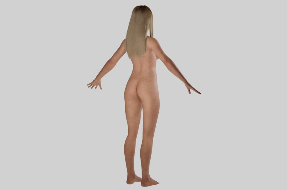 detailed 3d model of a woman turbosquid