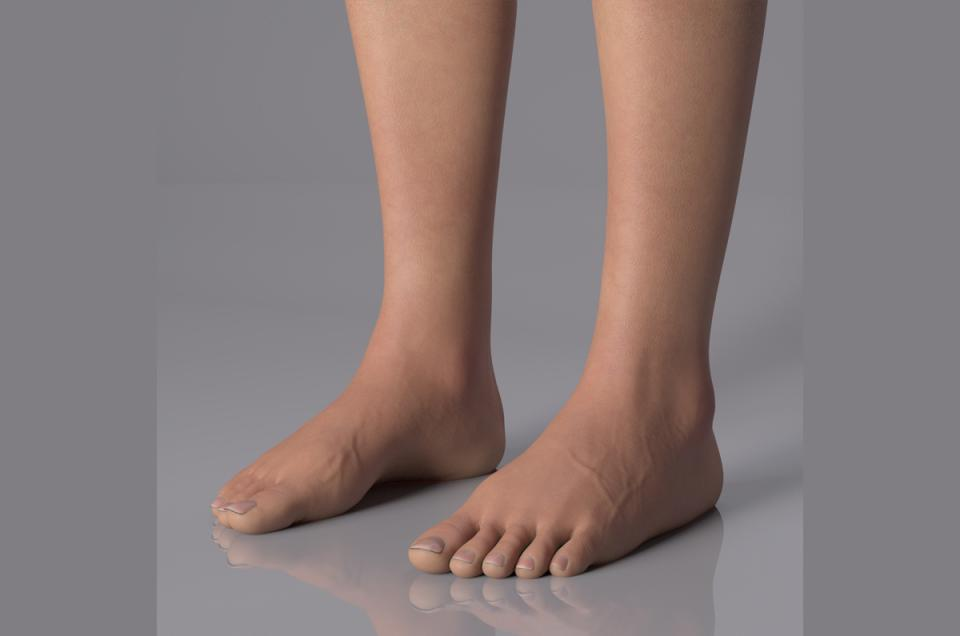 woman feet 3d model turbosquid