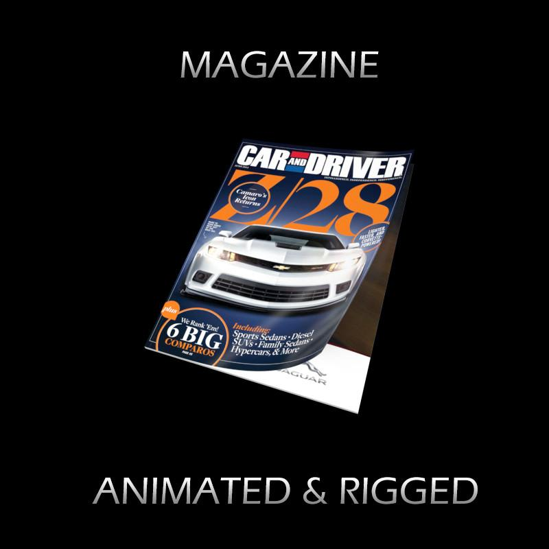 magazine animated and rigged 3d model turbosquid