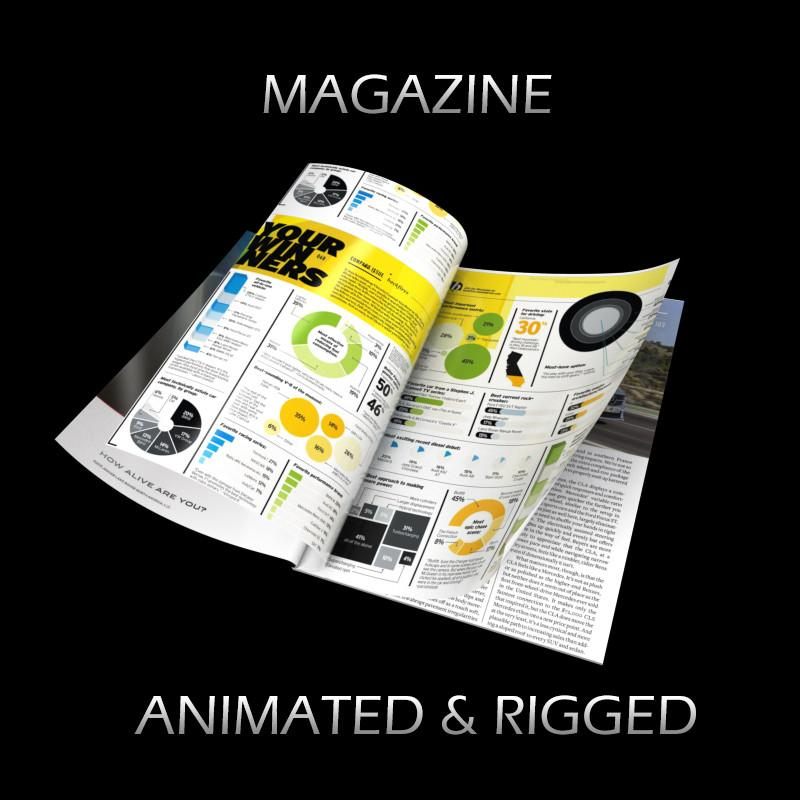 magazine 3d model turbosquid
