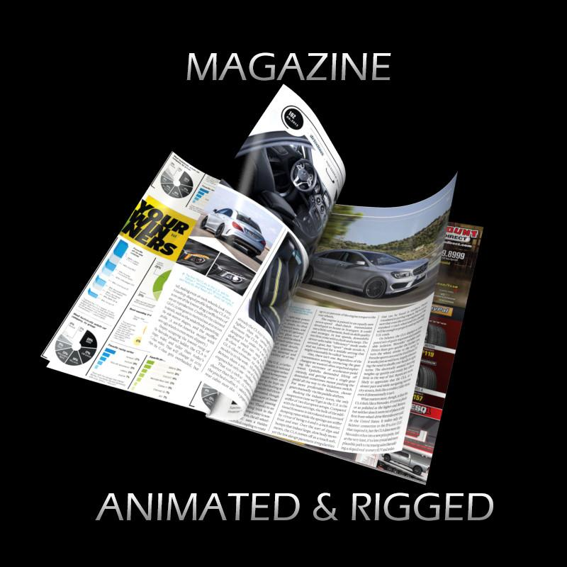magazine reading 3d model turbosquid