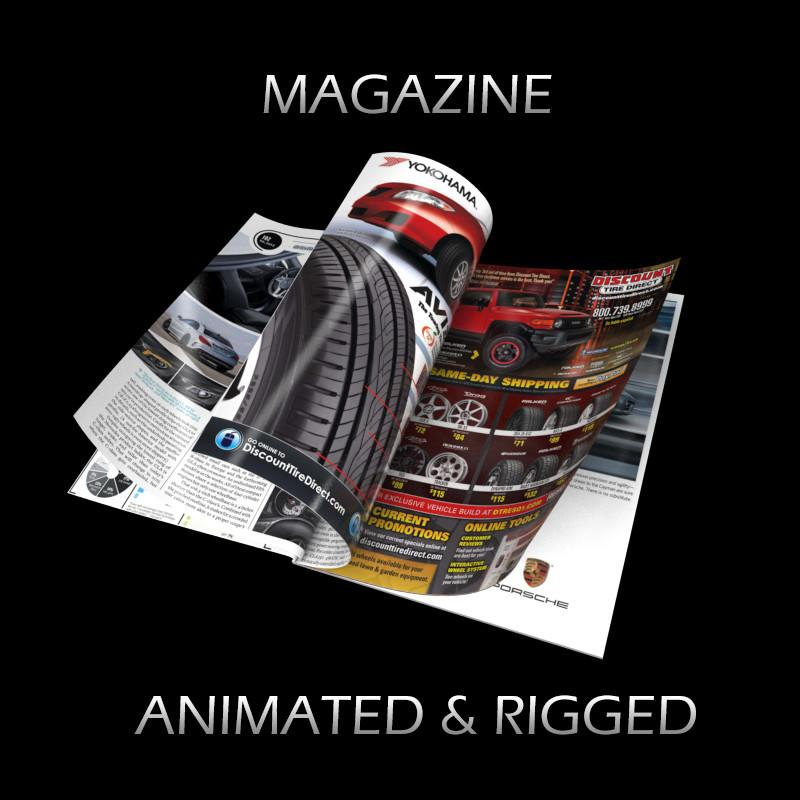 magazine hard cover animated 3d model turbosquid