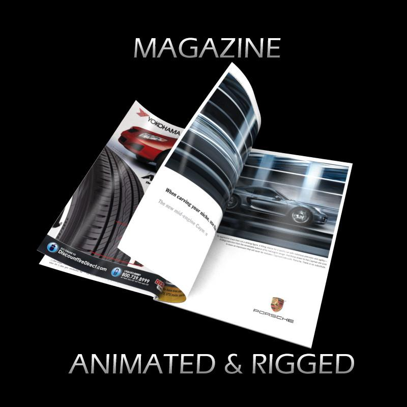 car magazine 3d model turbosquid