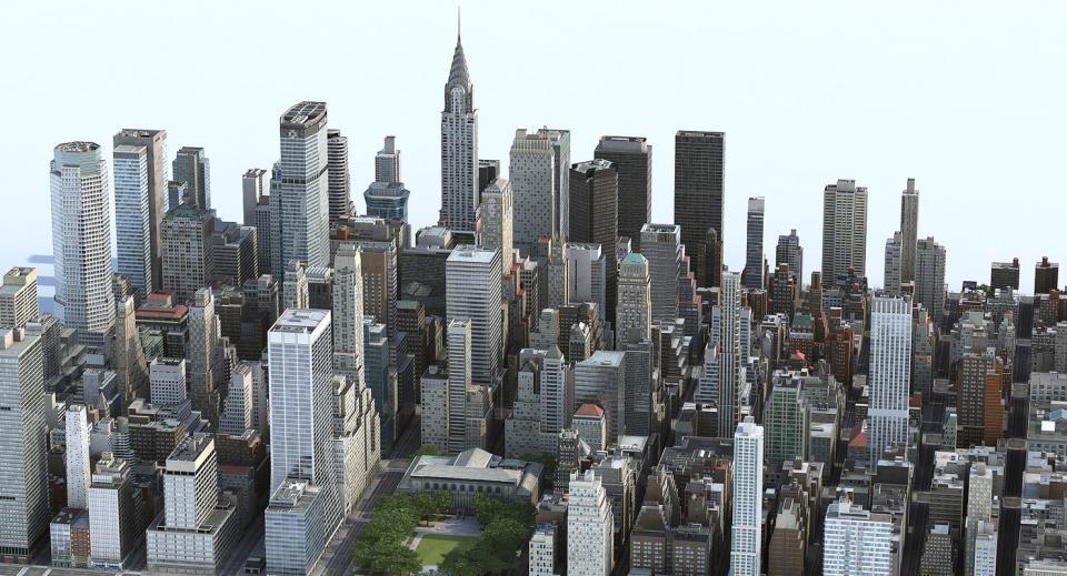 city at day 3d model turbosquid